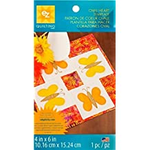 EZ Oval Heart Plastic Quilting Template
