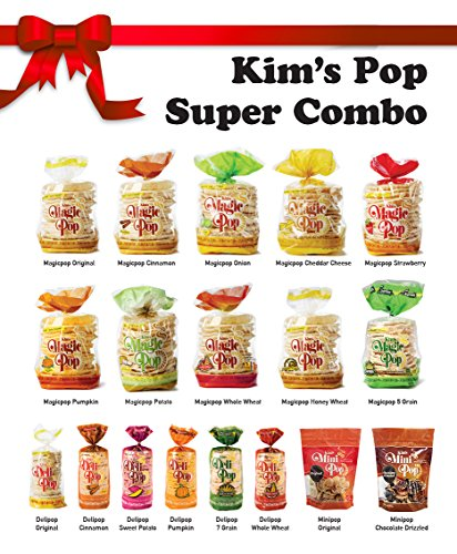 Kim's Pop Super Combo Pack 18 Packs: Freshly Popped Rice Cakes, Healthy Grain Snack, 0 Weight Watchers Point