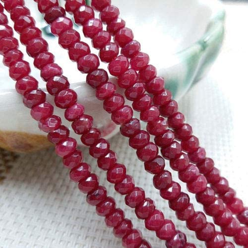 NEW 4mm Brazil Faceted Red Ruby Round Loose Beads 15/""