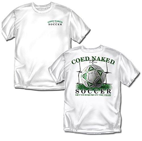 Coed Sportswear Soccer T-Shirt: Coed Naked Soccer, White - Adult Large Coed Sportswear Football