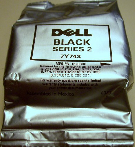 Dell Genuine OEM 7Y743 High Yield Series 2 Black (FN181) for Both Printers- A940 and A960- Factory Foil Sealed- Does Not Include Box.