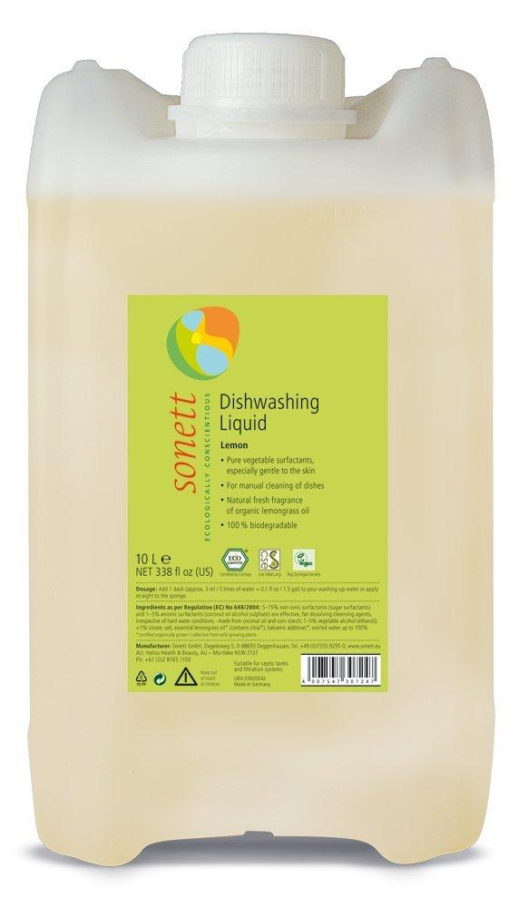Sonett Organic Dishwashing Liquid Calendula, Lemon 10 oz and 33.8 oz (Lemon, 338 Fl.Oz (1 Count))