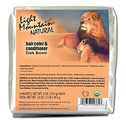 Light Mountain Natural Bulk Hair Color and Conditioner, Dark Brown, 16 Ounce by LIGHT MOUNTAIN (Image #2)