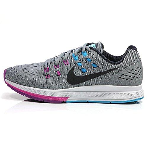 Nike Women's Air Zoom Structure 19 Cool Grey/Black/Fuchsia Flash Running Shoe 10 Women US (Black Grey Air)