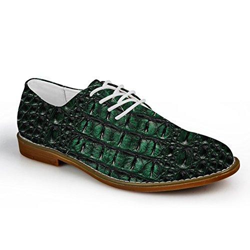 Abbracci Idea Modello Serpentino Mens Moda Scarpe Oxford Scarpe Verde Scuro