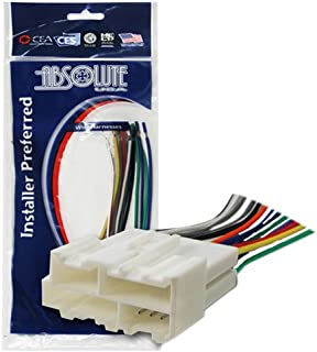 absolute usa h344/1858 radio wiring harness for general motors 1998-2005  power 4
