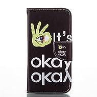 Nancen Coque pour Apple Iphone 6 Plus / 6S Plus (5.5 pouces), Série Mignon Étui Housse en Cuir PU Bookstyle Flip Cover Wallet Portefeuille Coque de protection Intérieure Souple TPU Silicone Case [Geste OK]