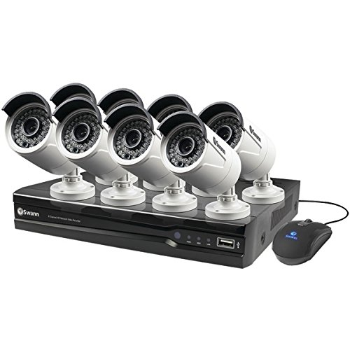 SWANN SWNVK-873008-US 8-Channel 1080p NVR with 8 Bullet Security Cameras