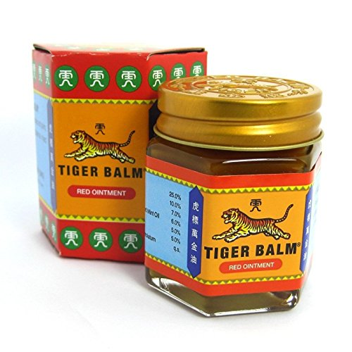 Tiger Balm Red Extra strength Herbal Rub Muscles Headache Pain Relief Ointment Big Jar, 30g (Thailand Edition) - Red Ointment