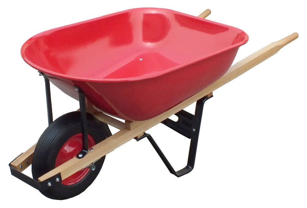 United General WH89982 Heavy Duty Steel Tray Wheelbarrow, 6 Cubic-Feet 18 Gallon by United General