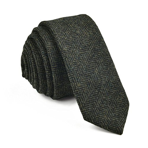 (VOBOOM Mens Necktie Skinny Tie Tweed Pattern Woolen Neck Tie-many colors (06)