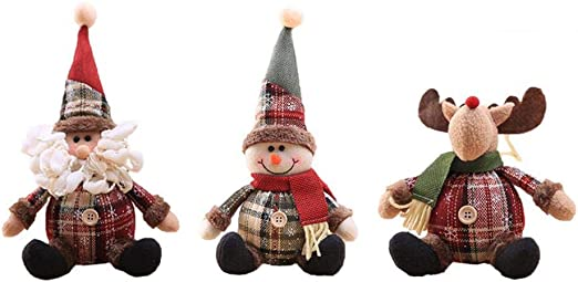Amazon Com Liana Irwin Holiday Characters Christmas Tree Ornaments Set Xmas Hanging Decorations Santa Reindeer Snowman For Holiday Party Decor Home Kitchen