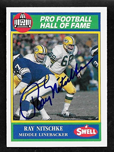 Ray Nitschke Green Bay Packers - Ray Nitschke Green Bay Packers Autographed Signed 1990 Swell Card #96 - COA - Mint Condition