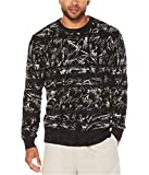 Cubavera Men's Long-Sleeve Crew Neck Printed Sweater, Peacoat, M