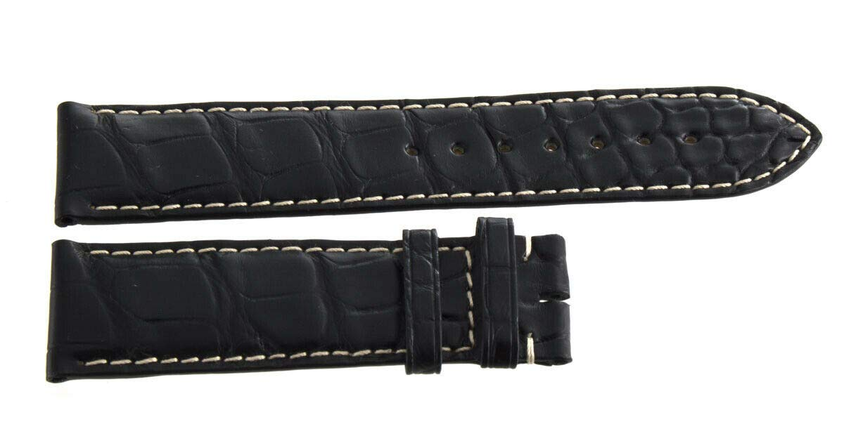 Genuine Longines 22mm x 20mm Black Alligator Leather Watch Band Strap L682119491 by Genuine Longines (Image #2)