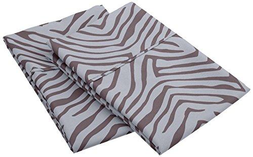 1800 Series 100% Brushed Microfiber, Wrinkle Resistant 2-Piece Standard  Pillowcase Set, Animal Print, (Leopard Print Animal Series)