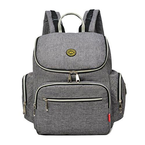 yuhan oxford baby backpack diaper bag change pad insulation bag fit stroller grey hardware. Black Bedroom Furniture Sets. Home Design Ideas