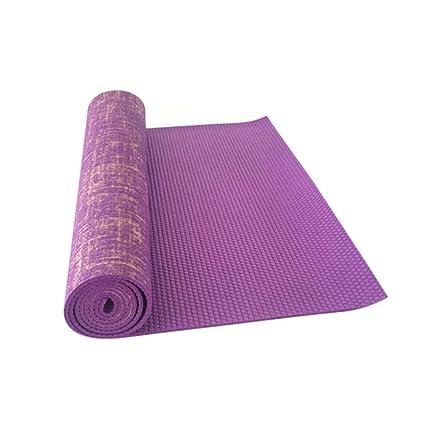 Amazon.com: Gereton Flax Jute PVC Yoga Mat Non-Slip Movement ...