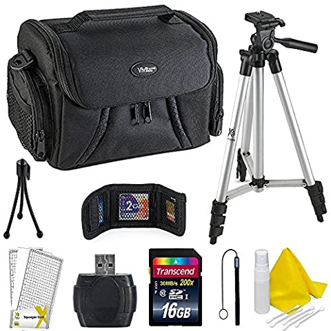 Professional Accessory Kit For all Canon, Nikon, Sony, Panasonic, Olympus Cameras, Kit Includes 9 Compact (Camera T5i Bundle)