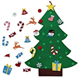 Xiaolanwelc@ Ourwarm Kids DIY Felt Christmas Tree with Ornaments Children Christmas Gifts for 2018 New Year Door Wall Hanging Xmas Decoration