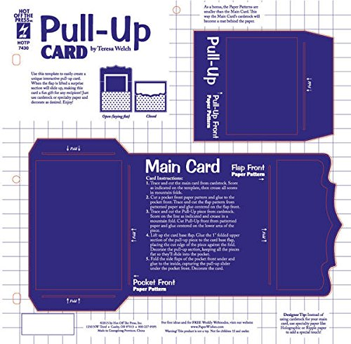 Pop Up Card Templates - Pull-Up Card Template by Teresa Welch Card-Making HOTP7430