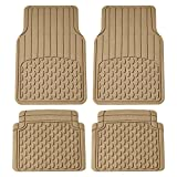 Automotive : FH Group F11308BEIGE Beige All Weather Floor Mat (Full Set Trimmable Custom Fit), 1 Pack