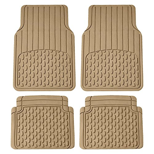 2006 Mustang Floor Mat - FH Group Tan F11308BEIGE Beige All Weather Floor Mat (Full Set Trimmable Custom Fit)