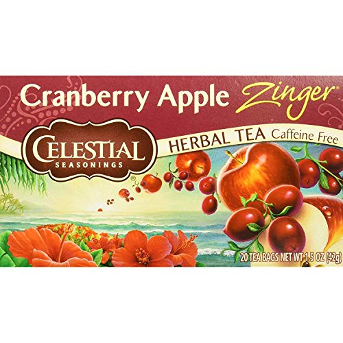 (Celestial Seasonings Herb Tea Cranberry Apple Zinger, 20 Count (Pack of)
