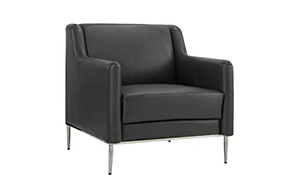 Prime Modern Living Room Leather Armchair Accent Chair Grey Frankydiablos Diy Chair Ideas Frankydiabloscom