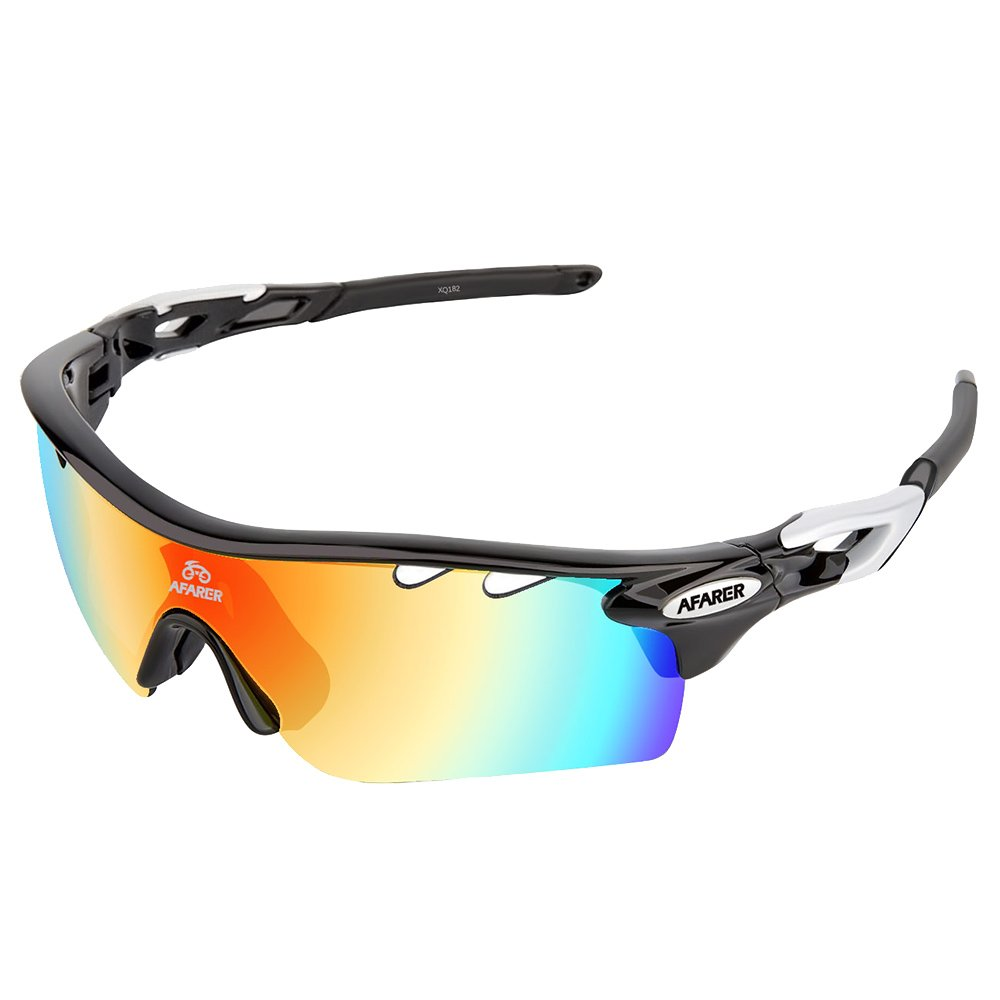 Polarized Sports Sunglasses for Youth Boys Girls baseball softball jogging running biking fishing motorcycle camping Black Sliver by AFARER
