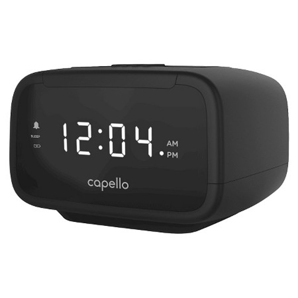 Amazon.com: Capello Digital AM & FM Alarm Clock Radio - Black (CR15): Home  Audio & Theater