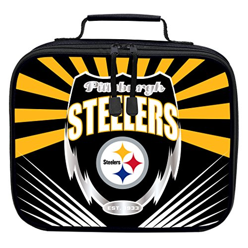 The Northwest Company Officially Licensed NFL Pittsburgh Steelers Lightning Kids Lunch Kit, ()