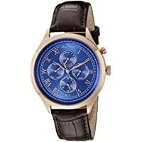 Lucien Piccard Men's LP-10333-RG-03-BRW Besana Rose Gold Ion-Plated Stainless Steel Watch with Brown Leather Band