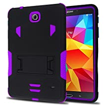 Tab 4 8 Case, Kuteck Heavy Duty rugged impact Hybrid Case cover with Build In Kickstand Protective Case For Samsung galaxy Tab 4 8.0 inch T330 T331 T335 Tablet (Purple)