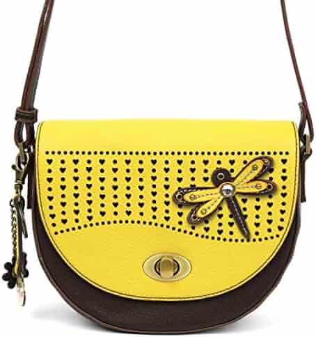 Chala Half Moon Organizer Crossbody Cell Phone Purse-Women Faux Leather  Multicolor Handbag with Adjustable bbd0a652588fc