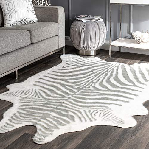 nuLOOM GLCA02A Faux Zebra Area Rug, 5' x 6' 7
