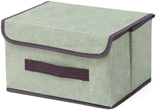Proumhang Cajas de Almacenaje Plegables Cubos de Tela Organizador Plegable con Tapa-Pequeño,Verde,25 * 19 * 16cm ...