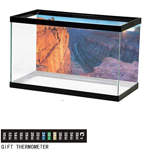 bybyhome Fish Tank Backdrop Americana,Sunrise at Toroweap,Aquarium Background,36