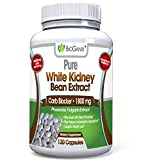 Pure White Kidney Bean Extract 1800mg Serving (120 Capsules) Best Carb and Fat Blocker & Starch Intercept Supplement for Weight Loss