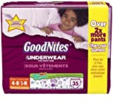 Health & Personal Care : Goodnites Underwear - Girl - Small/Medium - 35 ct