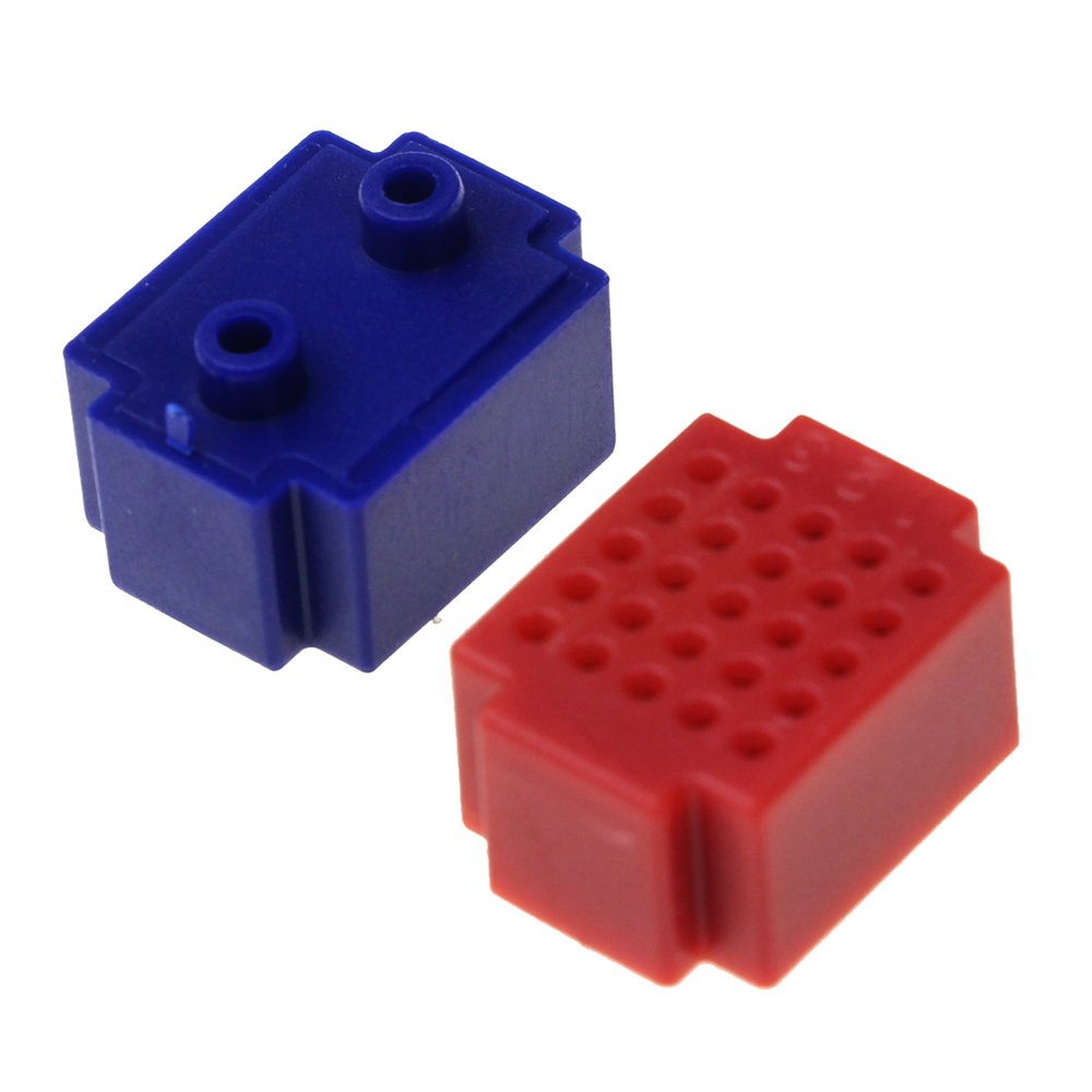 6 Colors CJRSLRB 12Pcs 170 Points Mini Breadboard Small Solderless Breadboard Prototype DIY Kit for Arduino