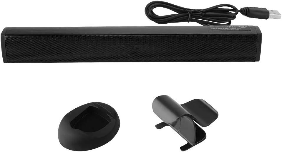 Kafuty Altavoz para computadora con Pedestal USB 3.5 mm HI-FI Barra de Sonido Subwoofer Altavoz para PS4//Laptop//PC Controlador de Juegos Tarjeta de Sonido incorporada peque/ña est/éreo port/átil Negro