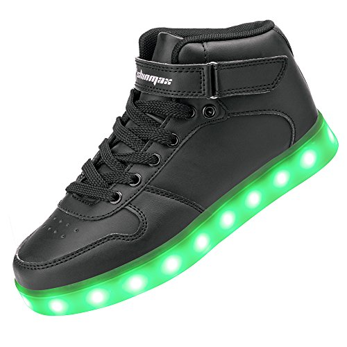 Shinmax Light up Shoes, LED Shoes Led Sneakers Breathable 7 Colors Light Shoes for Men& Women, Kid Shoes