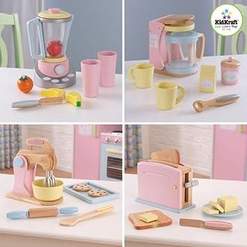 Kidkraft Kitchen Accessories | Amazon Com Kidkraft Pastel Kitchen Accessories 4 Pack Play S