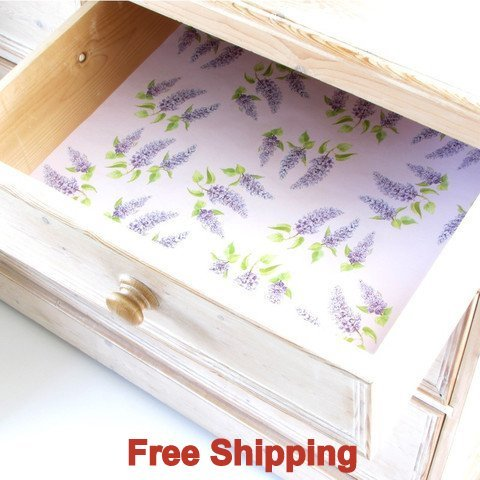 English Lilac Scented Drawer Liners by Best British Gifts with by Master Herbalist