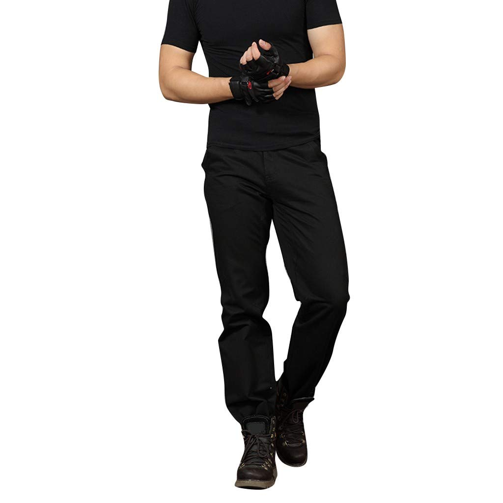 Men Pants,2019 New Casual Classic Straight Loose Relaxed Fit Outdoor Overall Pant (Size:30, Black)