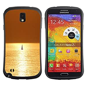 "Pulsar iFace Series Tpu silicona Carcasa Funda Case para Samsung Note 3 , Mar Velero Velero Verano"""