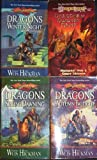 1 dragons of autumn twilight 2 dragons of winter night 3 dragons of spring dawning 4 dragons of summer flame dragonlance chronicles 1 to 4