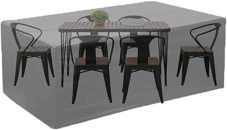 IDWOI Fundas para Muebles De Jardín Rectangular Juego De Mesa para Patio Impermeable Durable Funda De Protección (Size : 270×180×89CM): Amazon.es: Hogar