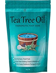 Tea Tree Oil Foot Soak With Epsom Salt, Helps Soak Away...